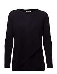 Wrap Front Sweater - NAVY