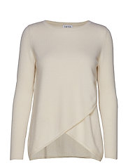 Wrap Front Sweater - WHITE
