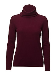 Loose Turtleneck - BORDEAUX