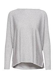 Lady Big Slit Sweater - LIGHT GREY
