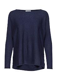 Lady Big Slit Sweater - NAVY