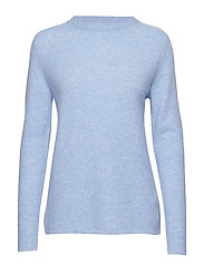 Semipolo Slit Sweater - DUSTY LIGHT BLUE