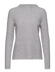 Semipolo Slit Sweater - LIGHT GREY