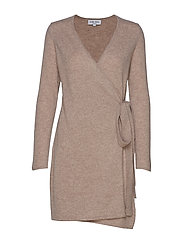 Wrap Over Dress - SAND