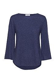 Quarter Wide Sleeve Sweater - DENIM BLUE