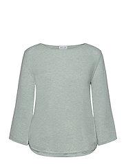 Quarter Wide Sleeve Sweater - LIGHT GREEN