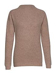 Rib Funnel Neck Sweater - SAND