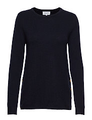 Side Buttons Sweater - NAVY