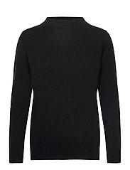 Funnel Neck Sweater - BLACK