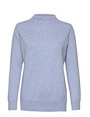 Funnel Neck Sweater - DUSTY LIGHT BLUE