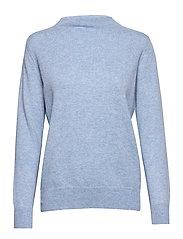 Funnel Neck Sweater - LIGHT BLUE
