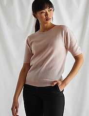 Davida Cashmere - T-shirt Oversized - gebreide t-shirts - light pink - 0