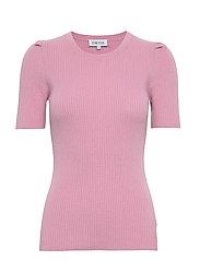 T-shirt Rib Puff Sleeve - PINK