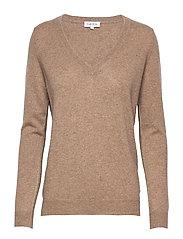 V-neck Loose Sweater - MINK