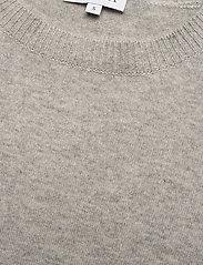 Davida Cashmere - Puff Shoulder Top - knitted tops - light grey - 2