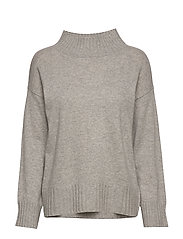 High Neck Sweater - LIGHT GREY