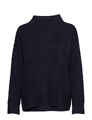 High Neck Sweater - NAVY