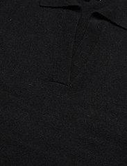 Davida Cashmere - Open Collar Sweater - sweaters - black - 2