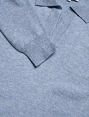 Davida Cashmere - Open Collar Sweater - sweaters - dusty light blue - 2