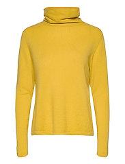 Fold Neck Sweater - YELLOW