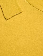 Davida Cashmere - Fold Neck Sweater - turtlenecks - yellow - 3