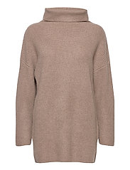Oversized Rib Sweater - MINK