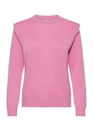 Shoulder Fold Sweater - ROSE PINK
