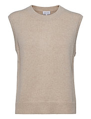 O-neck Vest - LIGHT BEIGE