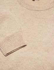Davida Cashmere - Volume Sleeve Sweater - sweaters - light beige - 3