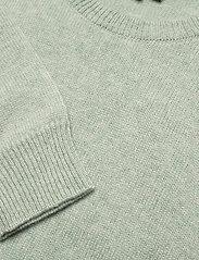 Davida Cashmere - Volume Sleeve Sweater - sweaters - light green - 3