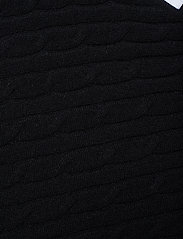 Davida Cashmere - Triangle Cable Poncho - kaschmir - black - 2