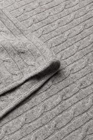 Davida Cashmere - Triangle Cable Poncho - kaschmir - light grey - 2