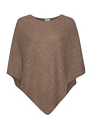 Triangle Cable Poncho - MINK