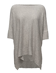 Poncho with Sleeves - LIGHT GREY