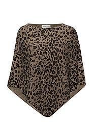 Leopard Poncho - ANIMAL DARK