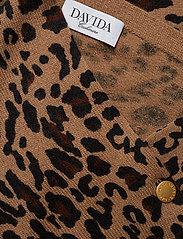 Davida Cashmere - Poncho Gold Buttons - kaschmir - animal dark - 2