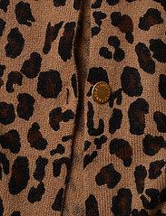 Davida Cashmere - Poncho Gold Buttons - kaschmir - animal dark - 3