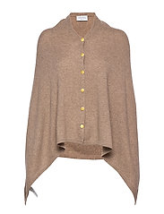 Poncho Gold Buttons - MINK
