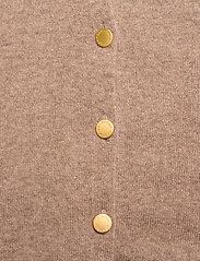 Davida Cashmere - Poncho Gold Buttons - kaszmir - mink - 3