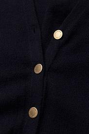 Davida Cashmere - Poncho Gold Buttons - kaszmir - navy - 2