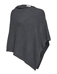 Asymmetric Poncho - DARK GREY