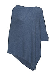 Asymmetric Poncho - DUSTY BLUE