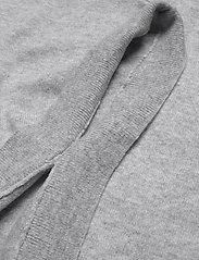 Davida Cashmere - Turtleneck Round Poncho - turtlenecks - light grey - 3
