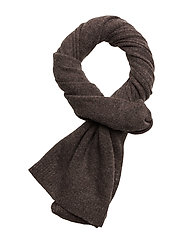 Rectangular Scarf - DARK BROWN