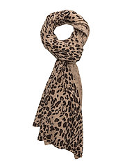 Scarf Leopard Scarf Brun DAVIDA CASHMERE
