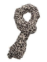 Scarf Leopard Scarf Multi/mönstrad DAVIDA CASHMERE