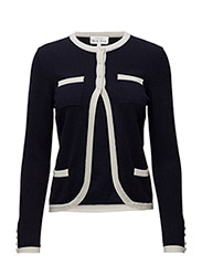 Elegant Cardigan - NAVY/WHITE