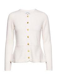 Peplum Jacket - WHITE