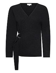 Side Belt Cardigan - BLACK