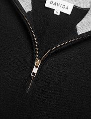 Davida Cashmere - Man Half Zip - half zip - black - 3